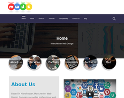 Screenshot of the Web Design Manchester homepage