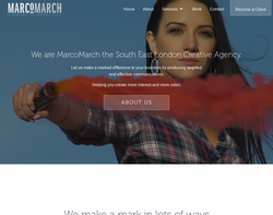 Screenshot of the MarcoMarch homepage