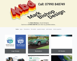 Screenshot of the Mark Bishop Design homepage