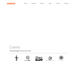 Screenshot of the matmi new media designs homepage