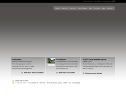 Screenshot of the Mavada Ltd homepage