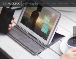 Screenshot of the Maxlomax Ltd homepage