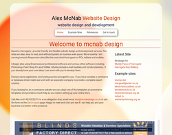 Screenshot of the mcnab design homepage