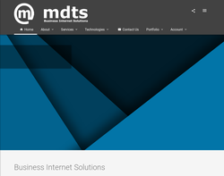 Screenshot of the MDTS UK Limited homepage