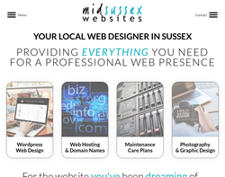 Screenshot of the Mid Sussex Websites homepage