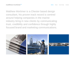 Screenshot of the Mortimer Design Limited homepage