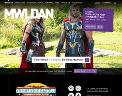 Screenshot of the Creative Mwldan homepage