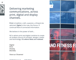 Screenshot of the N2 Visual Communications Ltd homepage