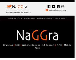 Screenshot of the NaGGra Digital homepage