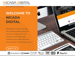 Screenshot of the Nicada Digital homepage