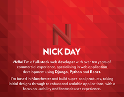 Screenshot of the Nick Day homepage