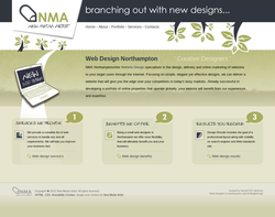 Screenshot of the NMA Web Design homepage