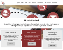Screenshot of the Nomis Limited homepage