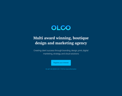 Screenshot of the OLCO Design Limited homepage