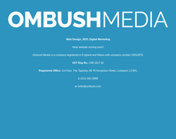Screenshot of the Ombush Media homepage