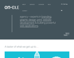 Screenshot of the On Idle Ltd homepage