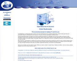 Screenshot of the Orbit Multimedia homepage