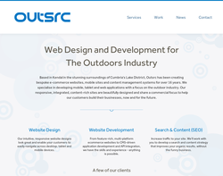 Screenshot of the OUTSRC homepage
