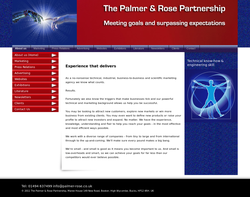 Screenshot of the Palmer Rose homepage