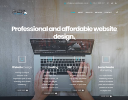 Screenshot of the PCP Web Design LTD homepage
