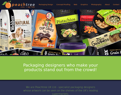 Screenshot of the Peachtree UK Limited homepage