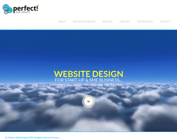 Screenshot of the Perfect Web Design homepage