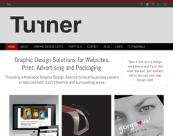 Screenshot of the Phil Turner Freelance Designer homepage
