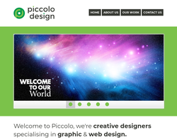 Screenshot of the Piccolo homepage