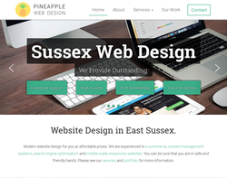 Screenshot of the Pineapple Web Design homepage