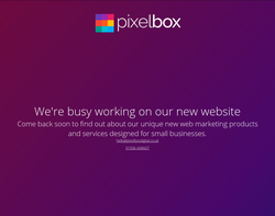 Screenshot of the Pixelbox Design homepage