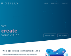Screenshot of the Pixsilly homepage