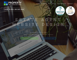 Screenshot of the Property Web Design Pro (PWDP) homepage