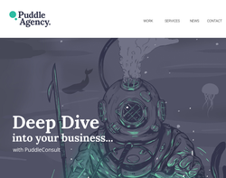 Screenshot of the Puddle Digital Ltd homepage