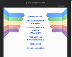 Screenshot of the Pure Creative homepage