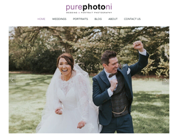 Screenshot of the Pure Photo N.I homepage