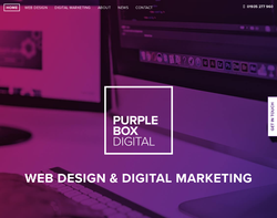 Screenshot of the Purplebox Digital homepage
