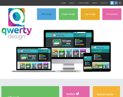 Screenshot of the Qwerty Design - Joanna Helsdown Web Design homepage