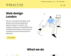 Screenshot of the Reactive Graphics homepage