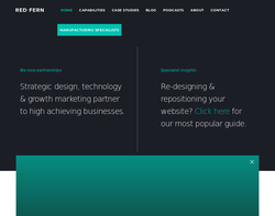 Screenshot of the Red-Fern Media Limited homepage