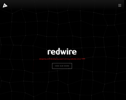 Screenshot of the Redwire Design limited homepage