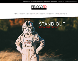 Screenshot of the Reloaded Media homepage
