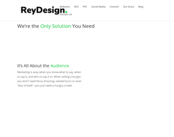 Screenshot of the ReyDesign Ltd. homepage