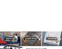 Screenshot of the Rhys Welsh Freelance Designer homepage