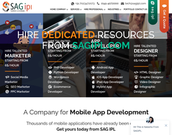 Screenshot of the SAG IPL homepage