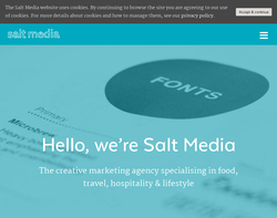 Screenshot of the Salt Media homepage