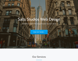 Screenshot of the Salts Studios homepage