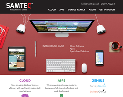 Screenshot of the SAMTEQ homepage