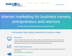 Screenshot of the Saxon Internet Solutions homepage