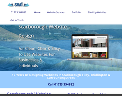 Screenshot of the Scarborough Website design homepage
