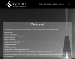 Screenshot of the Scriptit Limited homepage